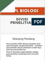 Divisi Penelitian - Kmpl Biologi