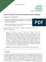 Quorum Sensing and Bacterial Social Interactions in Biofilms