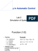 Laboratory in Automatic Control Lab2