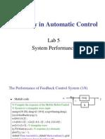 Laboratory in Automatic Control Lab5