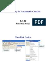 Laboratory in Automatic Control Lab12