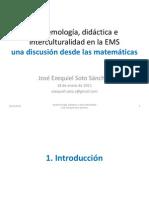 Didáctica, epistemología e interculturalidad