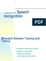Robust Speech Recognition