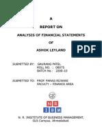 FINANCIAL STATEMENT ANALYSIS REPORT