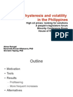 Oil Price Hysteresis and volatility in the Philippines