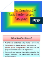 How to Constuct a Basic Sentence and Paragraph-PP