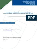 The Sources of Economic Growth in the Basque Country, Navarre and Spain during the period 1986-2004 (Eng)/  Las Fuentes del Crecimiento Económico en el País Vasco, Navarra y España durante el periodo 1986-2004 (Ing)/  Hazkunde Ekonomikoaren Iturriak EAE, Nafarroa eta Espainian 1986-2004 denboraldian (Ing)