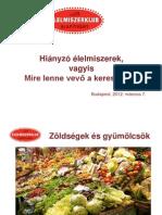 Tóth Ferenc - Hiányzó élelmiszerek, vagyis mire lenne vevő a kereskedő?