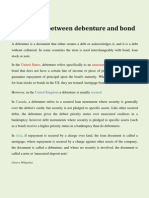 Difference Between Debenture and Bond