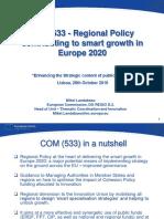 Regional Policy contributing to smart growth in Europe 2020 (Eng)/ Política Regional contribuyendo al crecimiento inteligente en Europa 2020 (Ing)/ Eskualdeko Politikak hazkunde inteligentea bultzatuz Europa 2020an (Ing)
