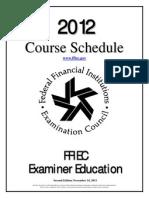 Fedres2012CourseSchedule