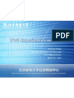 IPv6 Experiences in China