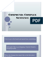 Compound- Complex Sentence