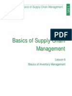 APICS CPIM Basics of Inventory Management