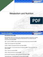 Sistem Metabolisme dan Nutrisi