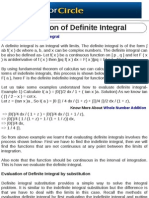 Evaluation of Definite Integral