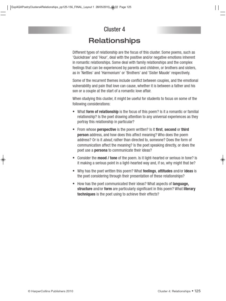 Relationships Poetry Shakespeares Sonnets Poetry