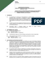 Edital Ciencia Politica 2011-1