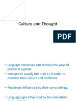 Culture and Thought