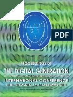 Proceedings of the Digital Generation International Conference