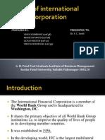 A Study of International Financial Corporation