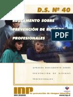 Decreto 40 Prevencion de Riesgos Profesionales