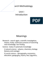 Research Methods-Unit I
