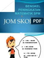Bengkel Peningkatan Maths Spm