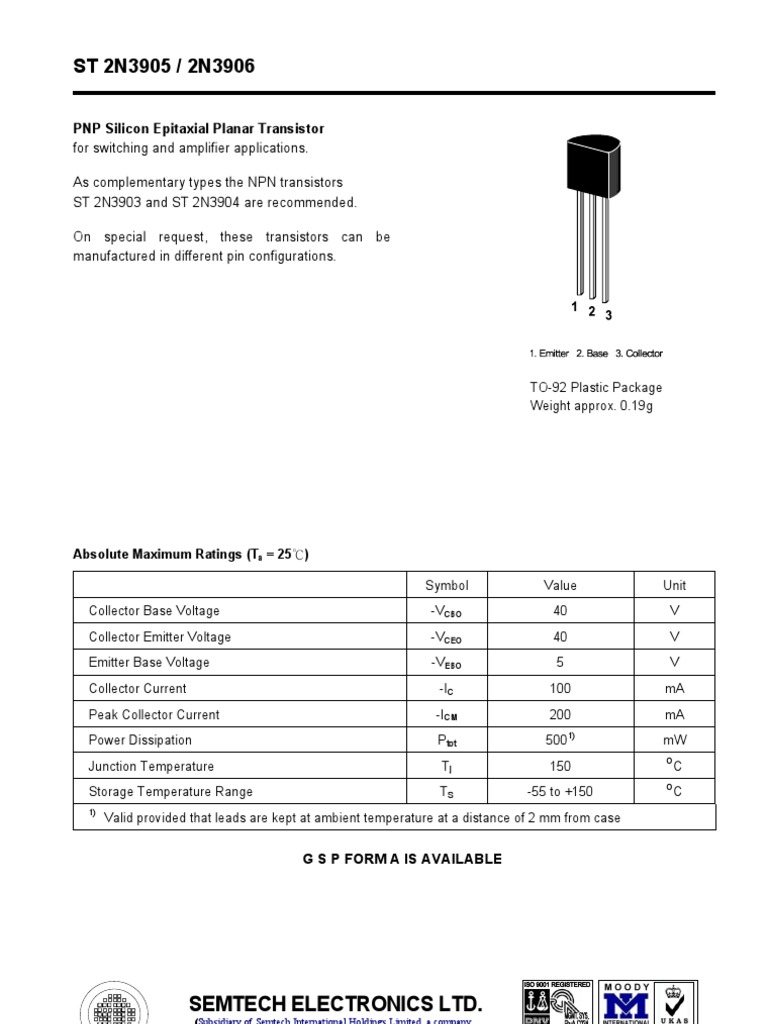 Datasheet 1 Bipolar Junction Transistor Circuit Diagram Can Be Constructed One Tr Using 2n3904 Electronic