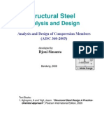 Analysis and Design of Compression Steel Members