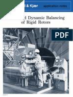 Static and Dynamic Balancing of Rigid Rotors