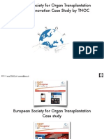 ESOT Case Study TNOC.ch European Society for Organ Transplantation Conference Innovations