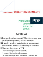 Foreign Direct Investments Ppt