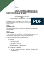DTC agreement between Uzbekistan and Malaysia