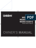 Uniden Wireless Phone Manual