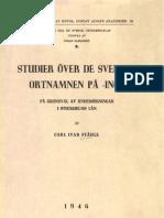 Ståhle - 1946 - Studier över de svenska ortnamnen på -inge På grundval av undersökningar i Stockholms län(2)