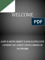 Low Earth Orbit Nano Satellite Communication Using Iridium Network