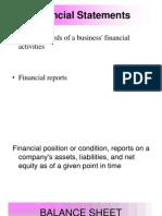 Balance Sheet & Income Statement