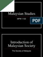 Malaysian Studies Lesson 1