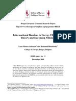 Informational barriers to energy efficiency (Eng)/ Barreras informativas en la eficiencia energética (Ing)/ Informazio hesiak efizientzia energetikoan (Ing)