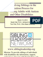 Sibling Leadership Network with Autism NOW March 13, 2012