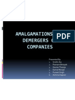Amalgamations and Demerger of Companies