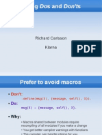 Erlang Dos and Dont's by Richard Carlsson