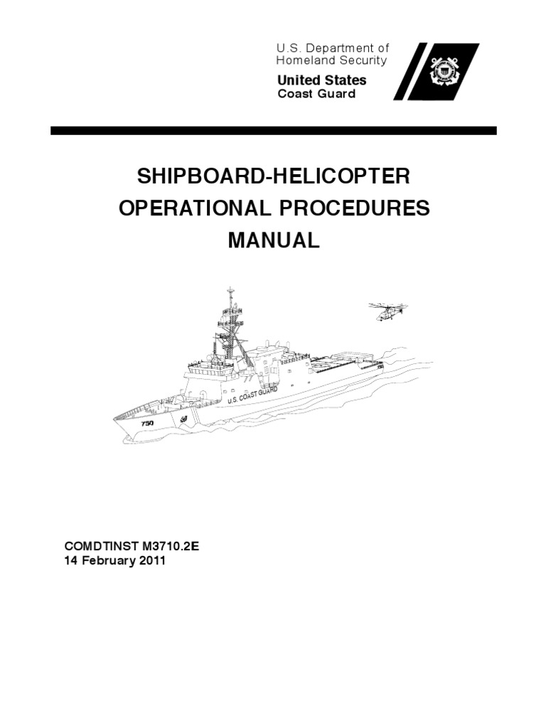 Uscg Shipboard-helicopter Operational Procedures Manual | United ...
