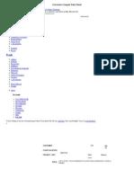 Corrosion Coupon Data Sheet