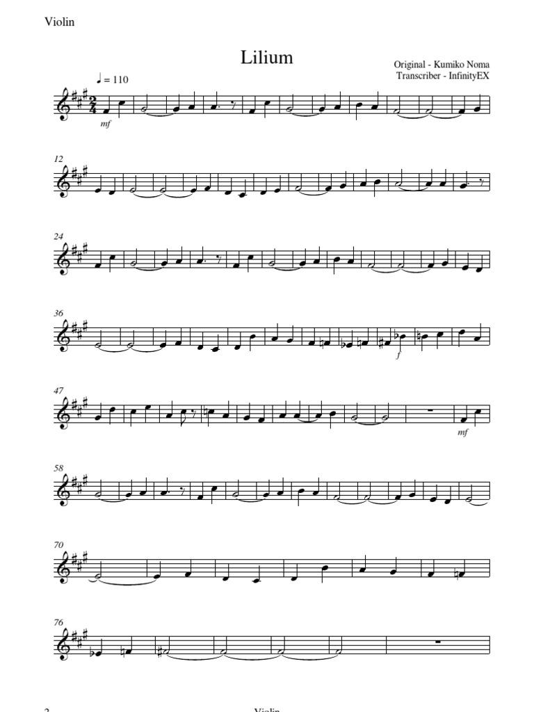 elfen lied  lilium  violin