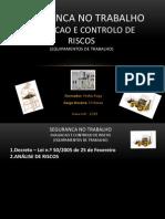 Curso - Segurança no Trabalho - Avaliação e Controlo de Riscos - Equipamentos de Segurança