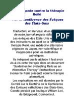 Mise en garde contre la thérapie Reiki