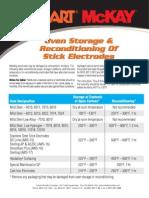 Oven Storage Chart
