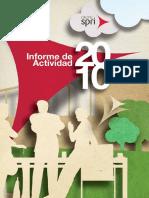 SPRI Informe de Actividad 2010 (Es)/ SPRI´s Activity Report 2010 (Spanish)/ SPRIren 2010eko Jarduera Txosten (Es)